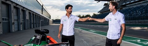 Lucas di Grassi and René Rast